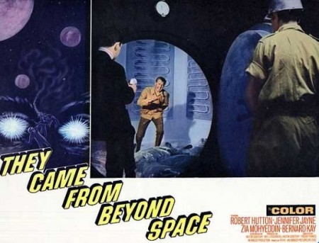They Came From Beyond Space lobby card 2