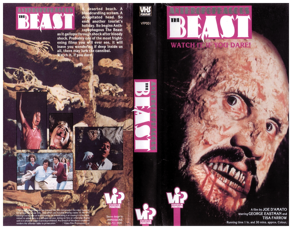 VN Antropophagus The Beast VHS