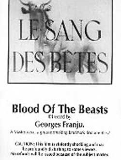 Film Review: Blood of the Beasts (Le Sang des bêtes) (short film) (1949)