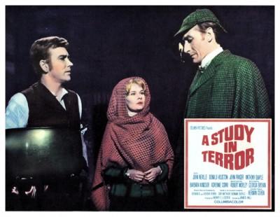 Study In Terror lobby card 1