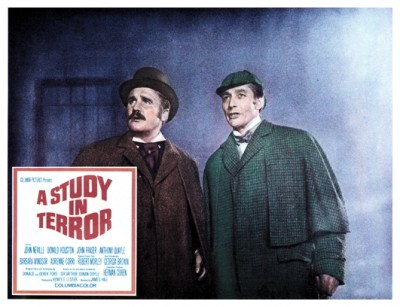 Study In Terror lobby card 3