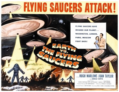 Earth Vs Flying Saucers lobby card