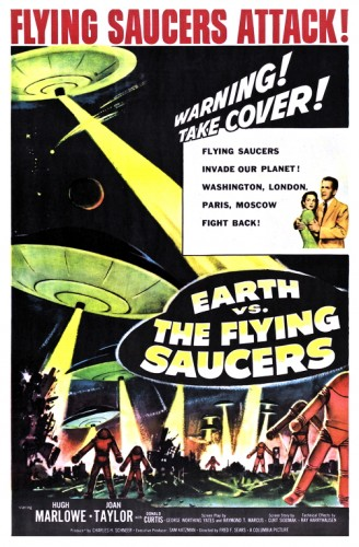 Earth Vs Flying Saucers poster