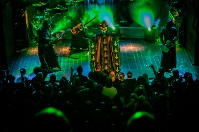 Swedish heavy metal band Ghost performing live in Utrecht.