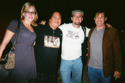 left to right: Kady Moore, Albert Pyun, david j. moore, and Michael Pare. Photo by Cynthia Curnan. Courtesy of david j. moore.