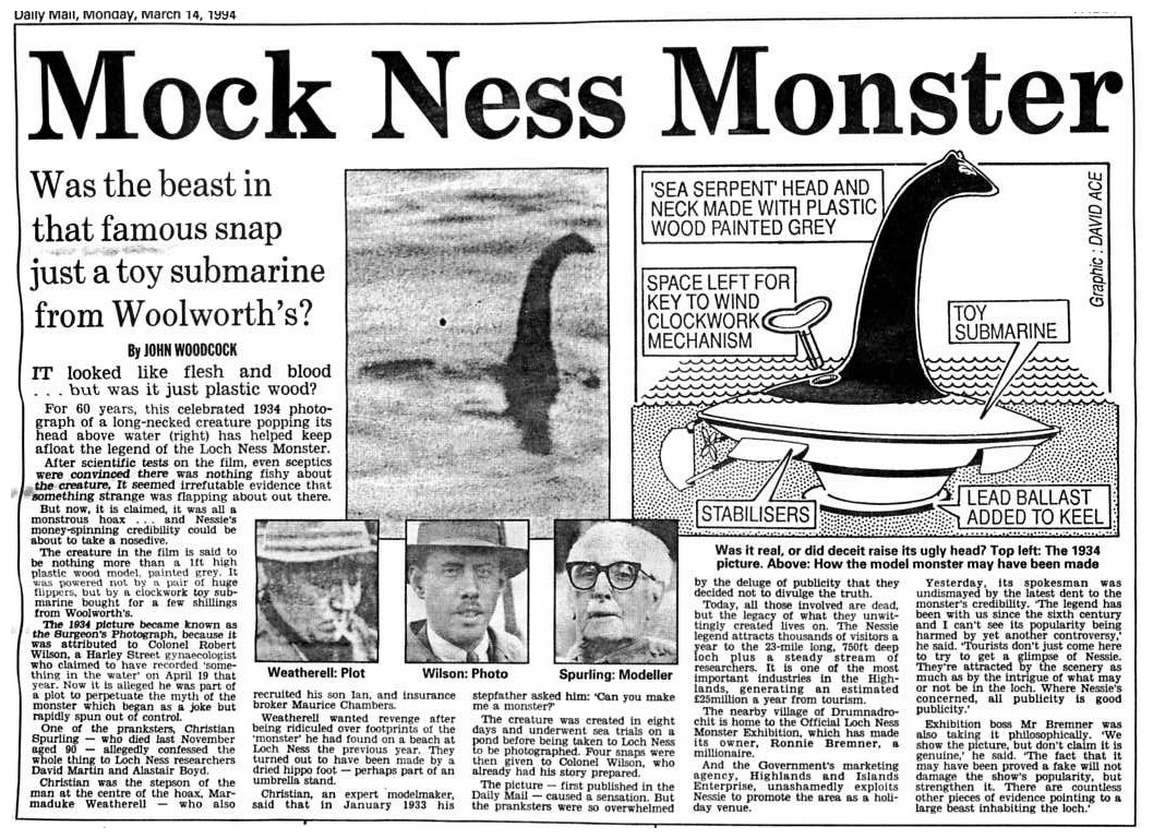 Nessie Daily Mail 14:03:94