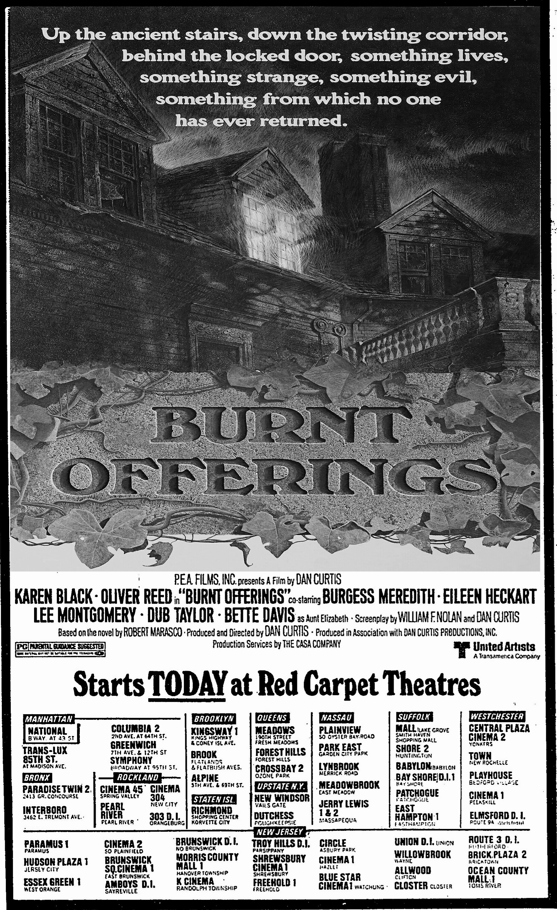 Image result for burnt offerings 1976