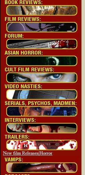 Horrornews.net retro interface
