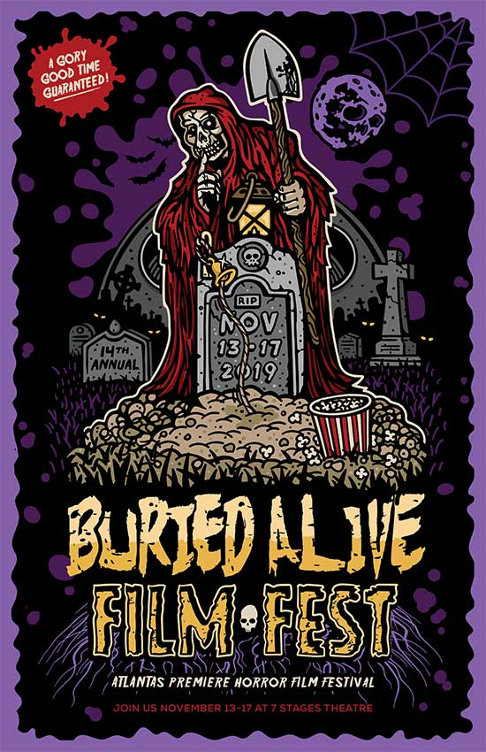 Buried Alive Film Festival 2019 Call for Submissions and Artwork