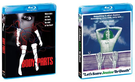 "Scream Factory Brings Cult Classic Thrillers ""Body Parts"" and ""Let's Scare Jessica to Death"" To Blu-ray January"