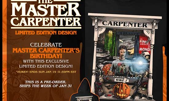 Celebrate JOHN CARPENTER's Birthday with Fright-Rags' Limited Edition Design