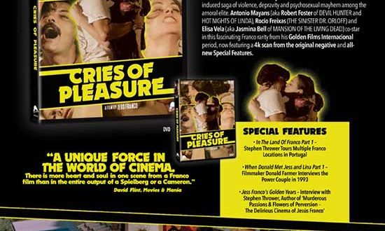 CAV & Severin Films present CRIES OF PLEASURE – Releasing late February 2020.