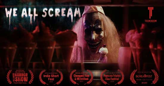 "Tremendum Pictures (""The Gallows"") Releases New Horror Short WE ALL SCREAM"