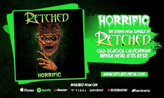"""Old school thrash metal solo artist RETCHED just release a new single """"Horrific"""""""