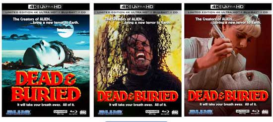 Dead & Buried 4K Ultra HD 3 Disc Limited Edition Lenticular Covers