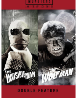 Celebrate Universal Monsters 90th Anniversary in Movie Theaters on October 30 With The Invisible Man and The Wolf Man Double Feature Event