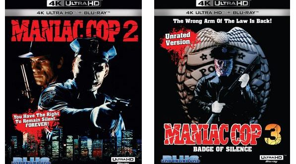 Maniac Cop 2 and 3 4K UHD coming 11/16 from Blue Underground